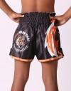 "Kids Muay Thai Shorts - ""Young Tiger"" - Black & Orange"