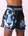 "Kids Muay Thai Shorts - ""Young Tiger"" - Black & Blue"
