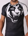 "T-Shirt - ""Signature Tiger Head"" - Air Flow - Black & White"