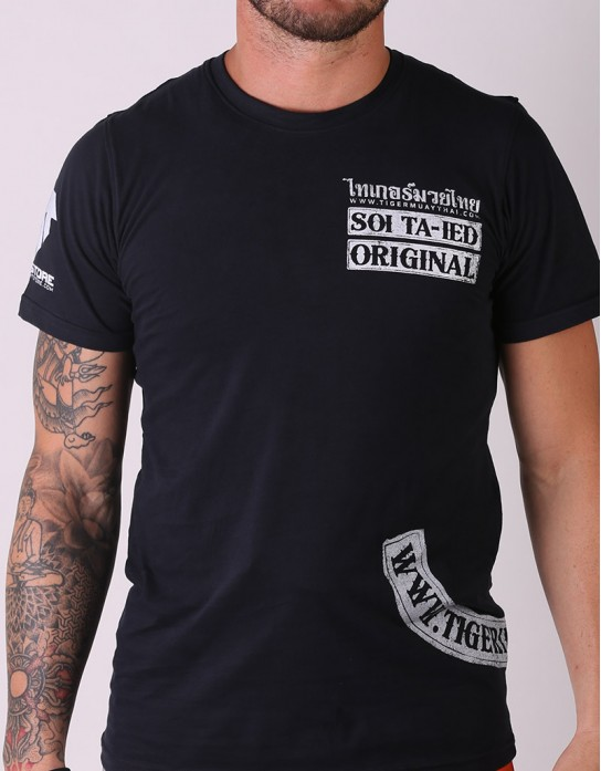 "T-Shirt - ""Soi Tad-ied Original"" - Cotton - Black"