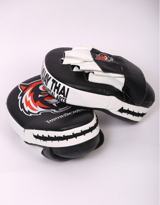 Tiger Muay Thai Focus Mitts - Black & Orange