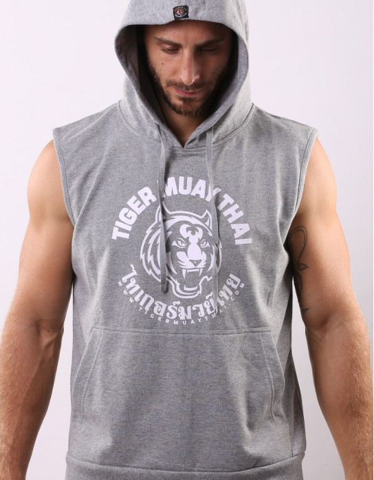 "Sleeveless Hoodie - ""Big TMT Logo"" - French Terry - Top Dyed"