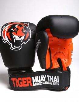 """Gloves - Muay Thai - """"Signature"""" - Black & Orange"""
