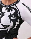 "Female Rashguard - Shortsleeve - ""Signature"" - Black & White"